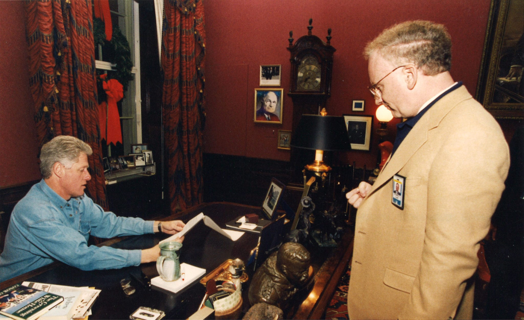 Clarke meeting with President Clinton